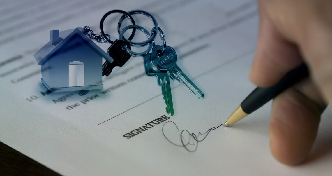Unterzeichung eines Kaufvertrags